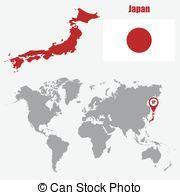 mapa, japón, Ilustración, bandera,  vector, indicador, mundo