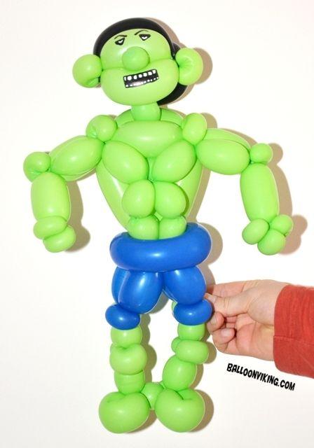 Superhelt tema bursdag, Hulk. Green and Angry. BalloonViking - Oslo