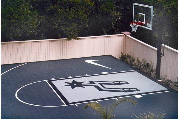Spurs Custom Sport Court Basketball Court Backyard Outdoor Basketball Court Home Basketball Court