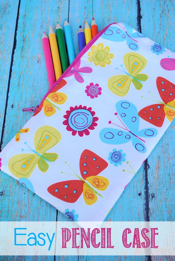 Easy Pencil Case Pattern and Tutorial by Crazy Little Projects