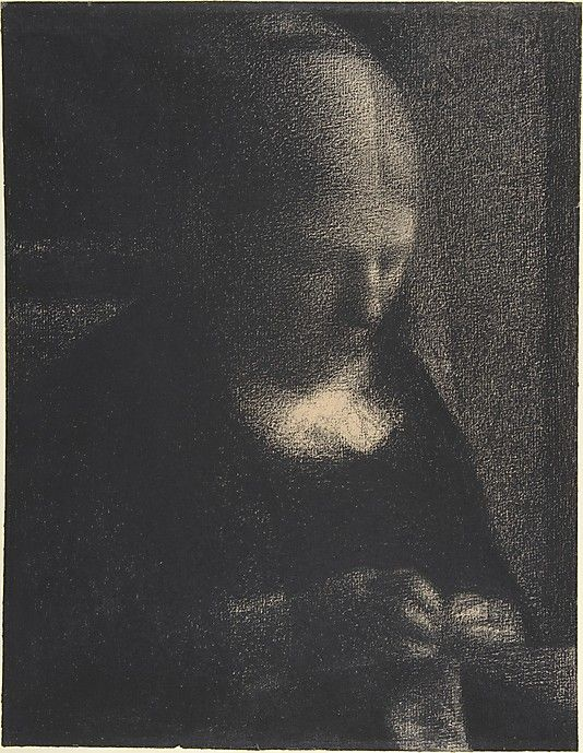 Georges Seurat (1859–1891) | Embroidery; The Artist's Mother | Date: 1882–83