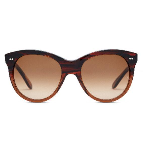Manhattan Orange Seabed Sunglasses ($355) ❤ liked on Polyvore featuring accessories, eyewear, sunglasses, oliver goldsmith glasses, oliver goldsmith eyewear, oliver goldsmith, orange sunglasses and oliver goldsmith sunglasses