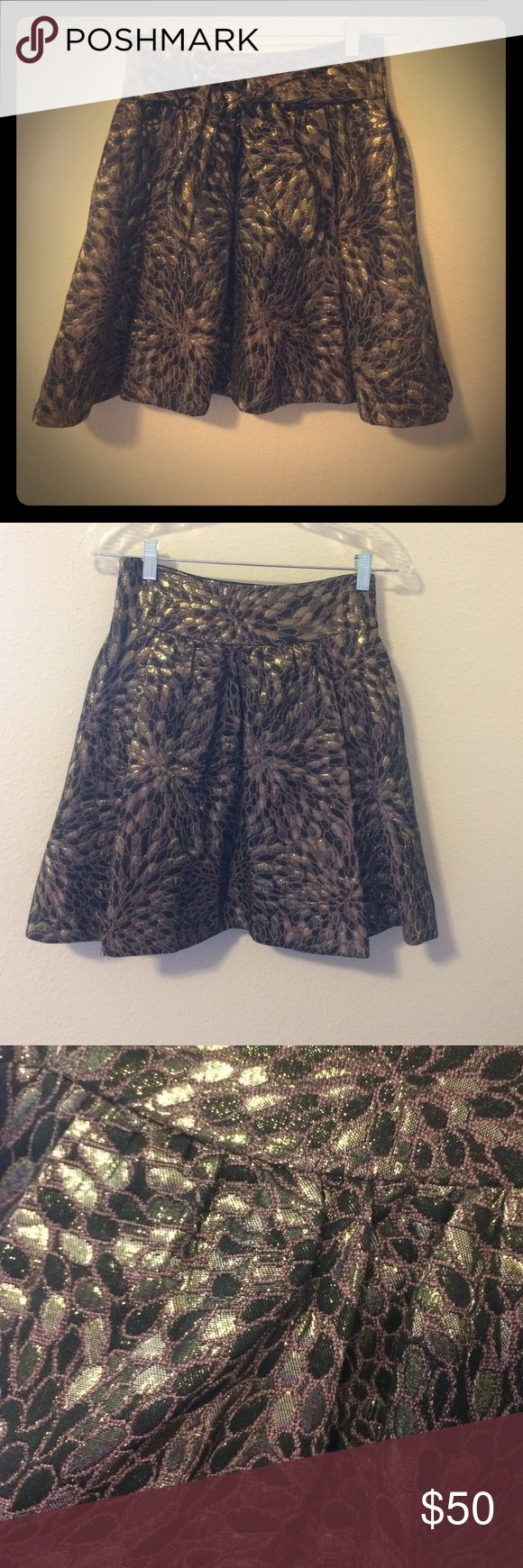 Zara Skirt Shimmery Zara Basic Skirt. You can tie a bow or knot in the front of the Skirt. Zipper on the side of the Skirt Zara Skirts A-Line or Full