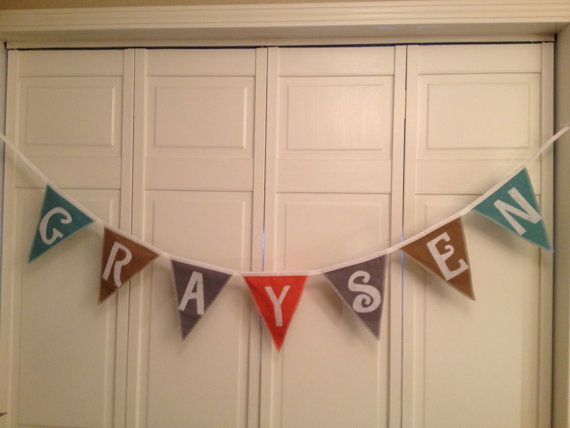 create your own cotton banner personalized custom with 7 inch flags with handmade custom iron on letters or numbers product id