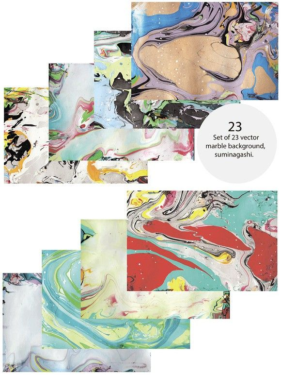 Marble background suminagashi. Poster Templates. $6.00