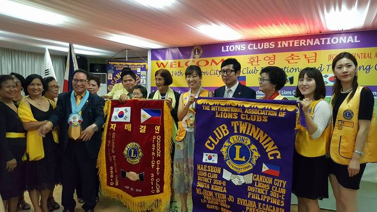 Candon City (Philippines) & Chungju Measeong (South Korea) #LionsClubs held a ceremony to celebrate their clubs twinning partnership of friendship and cooperation