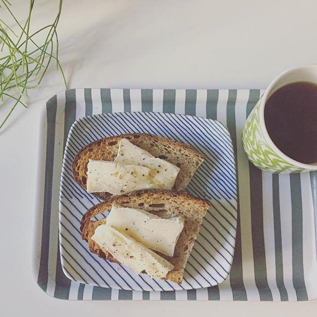 2017/01/16 14:37:04 c_c.a_a.o_o ・ ・ ・ ルヴァンのカンパーニュ ブリーチーズ オリーブオイル ブラックペッパー & ケニアのコーヒー aeropress 16g/220cc/2mim ・ バルミューダサマサマ #happymonday #breakfast #coffeeandbread  #nordic#scandinavian #Aprilcoffee #coffeetime #aeropress #balmuda #levain #Smørrebrød #campagne #Briecheese #rhipsalis #plants #ルヴァン #エアロプレス #パンとコーヒー #バルミューダ