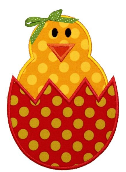 For the quilt - Easter Chick Applique Design