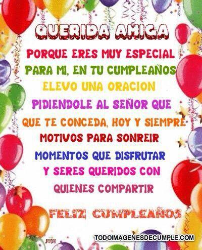 Feliz cumpleaños para una amiga