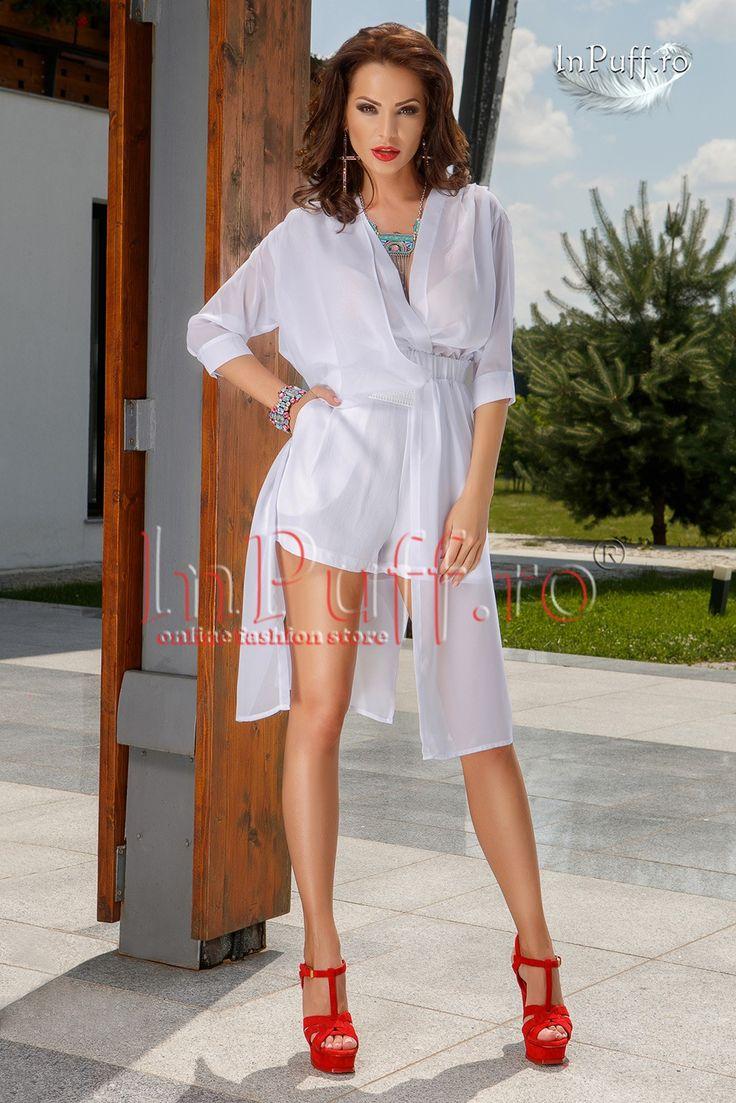 #Pantaloni albi scurti din #voal Pantaloni albi scurti din voal;pantaloni scurti albi;pantaloni scurti cu talie inalta;prevazuti cu buzunare laterale;elastic in talie;ideali pentru iesirile in oras;material: 95% poliester 5%elastan produs fabricat in Romania! DOAR MARIMEA 38(M).PRET LIVRARE-15,00 LEI.PRETUL PRODUSULUI ESTE DE 65,00LEI.