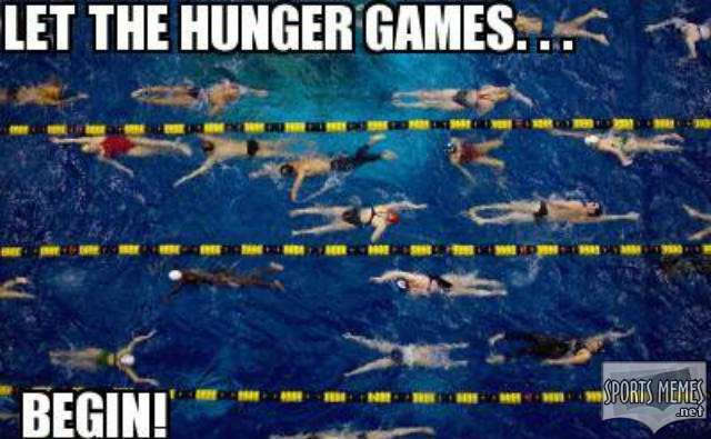 meet warmup pool #hungergames #swimming