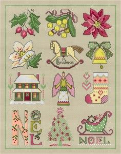 Christmas sampler | Lesley Teare Thoughts on Design