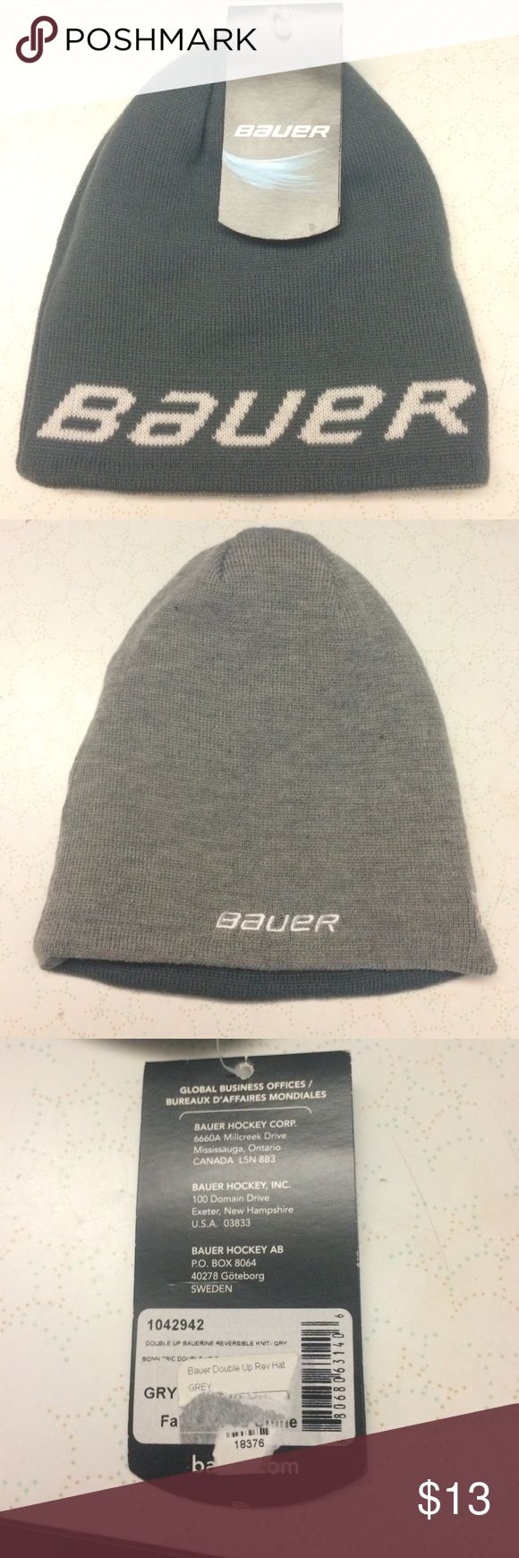 BRAND NWT Bauer Hockey Reversible Winter Beanie Brand new, tags on, name brand Bauer Double Up Rev hockey hat! Reversible winter beanie! Never worn!! Bauer Accessories Hats