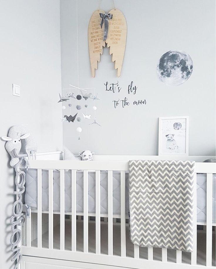 Zaffiro cotton blanket and cute grey kids room