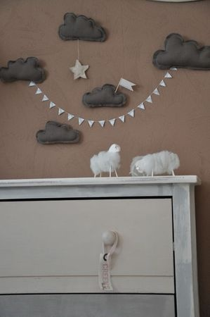 poétique. Thisis exactly what I want, @Claudia Sanchez, get on the felt gray cloud garland for baby googies roasted fox!