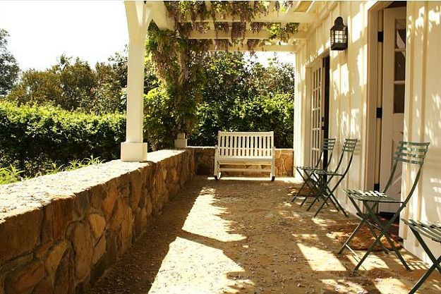 Ted Danson Mary Steenburgen guest house Ojai.  This is a beautiful place to relax and read a good Book.