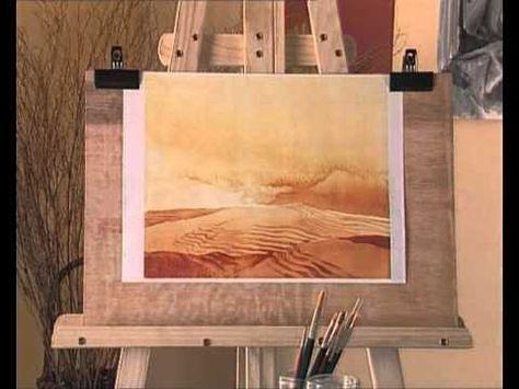▶ Curso practico de dibujo y pintura- acuarela-degradado tonal del cielo. - YouTube