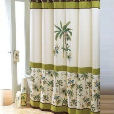 17 Best Images About Palm Tree Shower Curtain And Bath Accessories On Pinterest Colonial