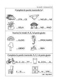 Vocale i scheda2 motricita 39 fine pregrafismo grafismi lettere approccio alla letto - Letto scrittura schede ...