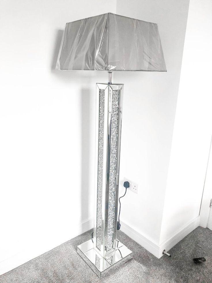 Crushed Diamond Crystal Mirrored Floor Lamp Floor lamp