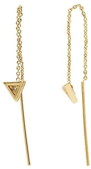 Sparkle Triangle Threader Earring