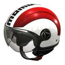 Casque Momo Design Avio Blanc Quartz rouge #speedwayfr #france #moto #casque #noir