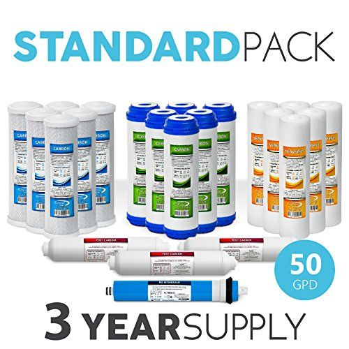 Express Water 3 Year Reverse Osmosis System Replacement Filter Set 22 Filters With 50 Reverse Osmosis Filter Reverse Osmosis Reverse Osmosis System