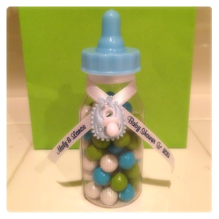 Another Of Our Baby Shower Favor. 4.5 Inches Mini Bottle Filled With Sixlet  Chocolate With