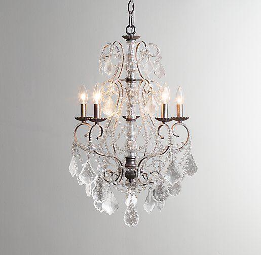 58 best mercury glass images on pinterest chandeliers craft aislynn mercury glass chandelier pewter 195w x aloadofball Choice Image