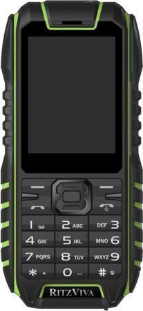 Ritzviva R240 (черно-зеленый)  — 2990 руб. —  Мобильный телефон Ritzviva R240 имеет корпус с уровнем защиты IP68. Он устойчив к ударам, падениям, попаданию на его поверхность пыли и брызг влаги и к погружению на глубину более 1 метра. Кроме того, малый вес позволяет ему удерживаться на поверхности воды – благодаря этому пользователь может без труда вернуть случайно упущенное устройство. Многофункциональность. В телефоне имеется мультимедийный плеер, способный воспроизводить аудио и видео в…