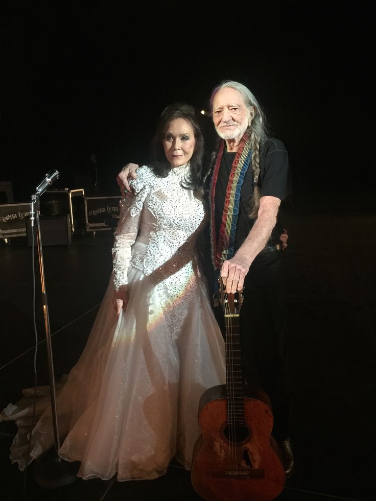 Willie Nelson and Loretta Lynn at the filming of their new music video [2/10/2016]
