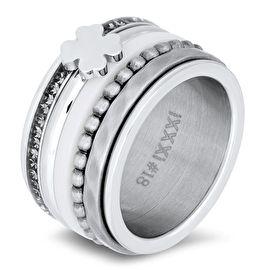 Gouden bolletjes ringiXXXi gouden bolletjes ring chirurgisch staal. Stalen vulring te combineren met de iXXXi basisring.