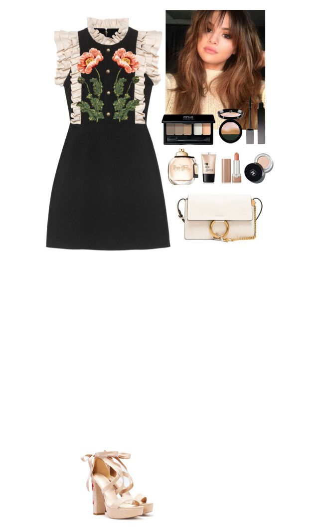 """""""Outfit"""" by eliza-redkina ❤ liked on Polyvore featuring Gucci, Nasty Gal, Charlotte Russe, MAKE UP FOR EVER, Serge Lutens, Marc Jacobs, Giorgio Armani, Chloé, outfit and like"""