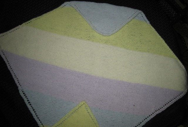Handknit Baby Blanket, Carrier, Stroller, Receiving Blanket Size, Blue, Lavender, Yellow, Cream, New Born, Great Baby Gift, Soft Baby Yarn by craftycrafts1 on Etsy