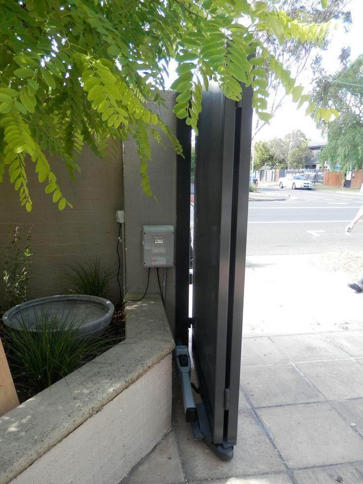 TMGC Automatic Trackless Bi-Fold Gates..The Motorised Gate Company - Melbourne, Australia. Visit us @ www.themotorisedgatecompany.com.au