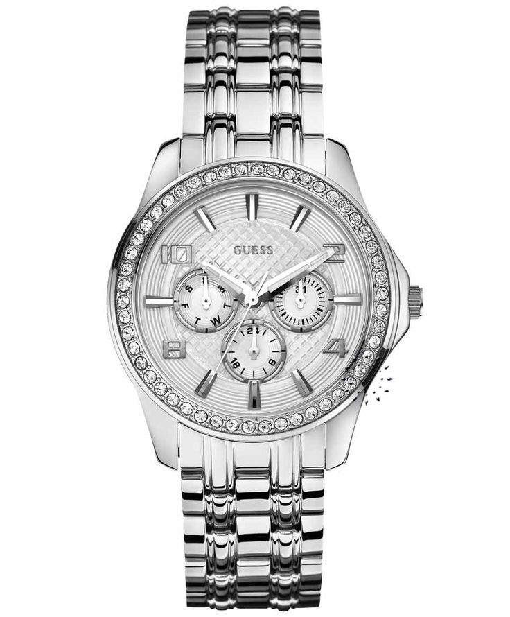 GUESS Multifunction Crystal Stainless Steel Bracelet  Μοντέλο: W0147L1  Τιμή: 177€  http://www.oroloi.gr/product_info.php?products_id=31733
