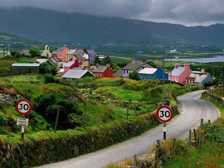 Ireland, this pic reminds me of the movie Leap Year! The road looks so quaint!! I want to drive down this road someday.