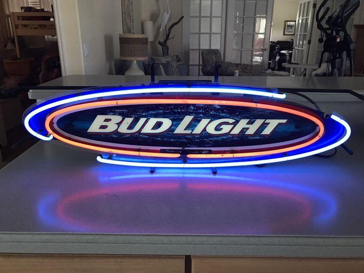Bud Light Beer Anheuser Busch Neon Sign Budweiser