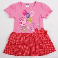 Vestido Rosado Peppa Pig, Tallas 18 meses a 6 años, Valor 11.990.-