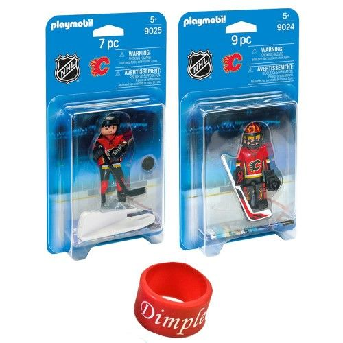 PlayMobil - NHL Calgary Flames Player and Goalie with Dimple Ring