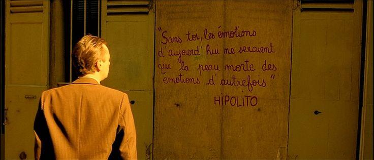 """""""Sem você, a emoção de hoje seria pele morta da emoção do passado."""" Hipólito. A imagem é do filme """"O fabuloso destino de Amélie Poulain."""""""