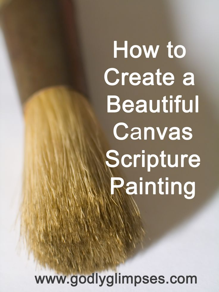 How to create a canvas painting (with stick-on letters)