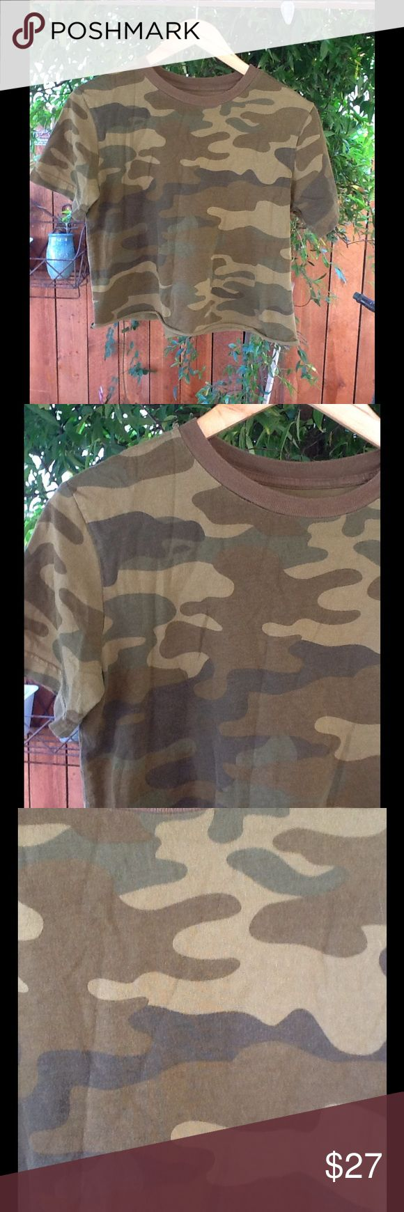 Design your own t shirt military - Crop T Shirt Camouflage Medium Women S Summer Altered Crop Military Style T Fits Most Women
