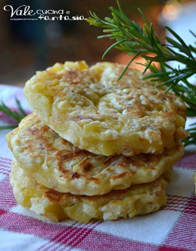 Pancake salati di patate e prosciutto cotto ricetta veloce