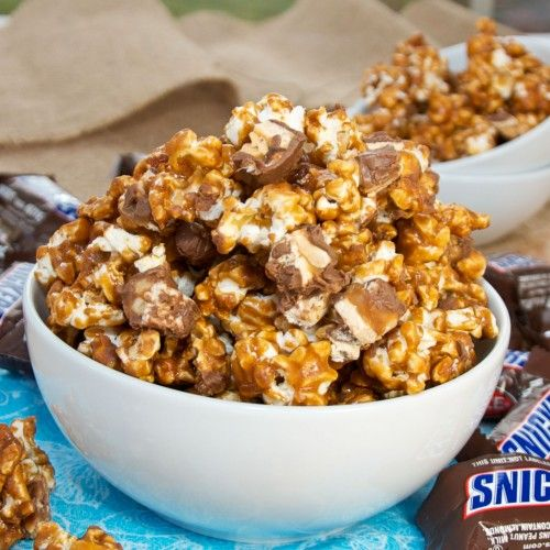 Snickers Caramel Popcorn {Sweet Pea's Kitchen}