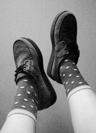 Kup mój przedmiot na #vintedpl http://www.vinted.pl/damskie-obuwie/platformy/10796879-szare-creepersy-39-buty-platforma
