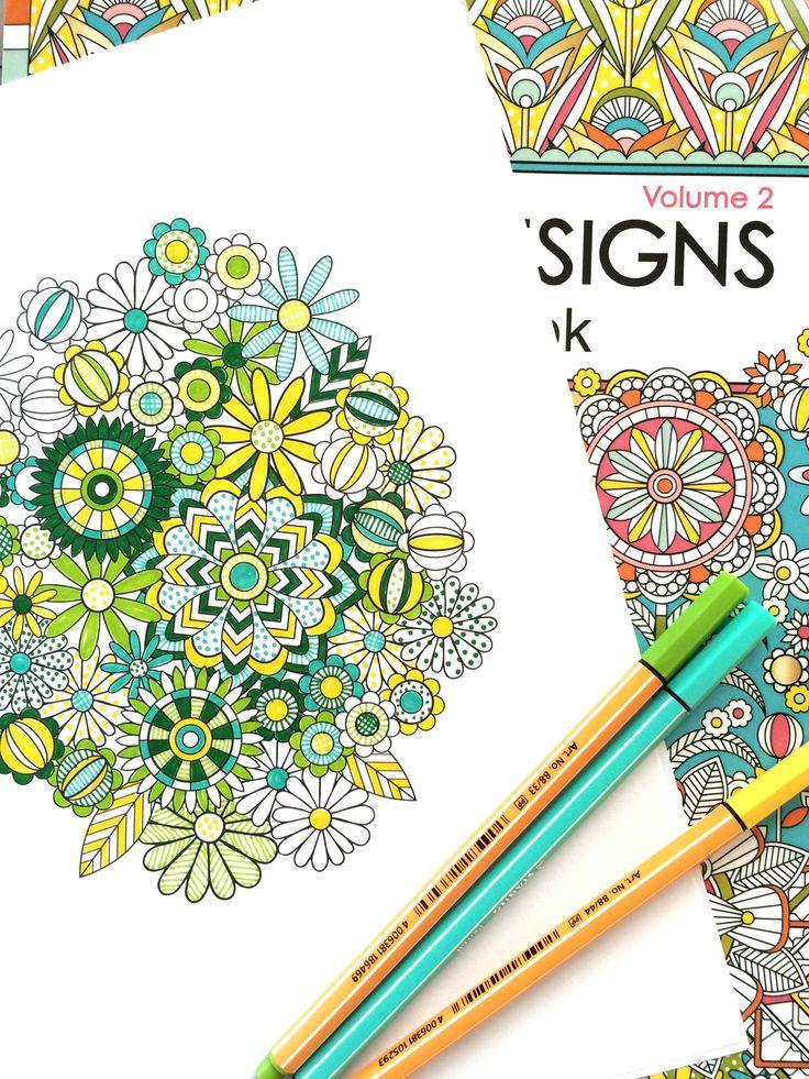 Flower Designs Coloring Book Jenean Morrison Meer Dan Afbeeldingen Over Art Therapy Op