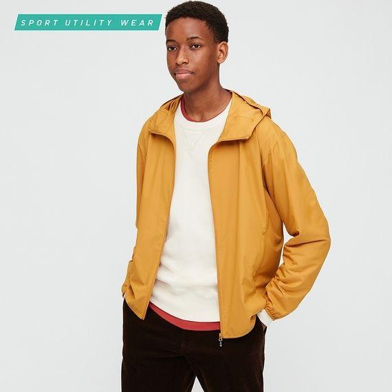 Men Pocketable Uv Protection Parka Parka Uniqlo Jackets Tweed Fashion