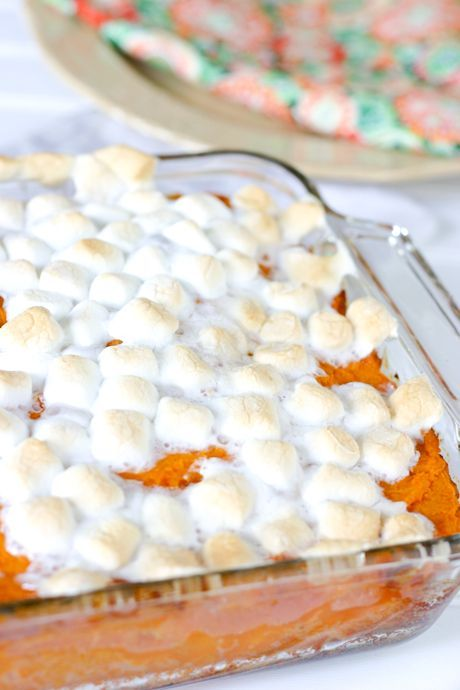 Easy Sweet Potato Casserole with Marshmallows  I made this (My first time making sweet potato casserole) It was so easy and so good! Will def be making this again
