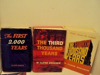 THE-FIRST-THIRD-FOURTH-THOUSAND-YEARS-by-W-Cleon-Skousen-LDS-MORMON-FULL-SET